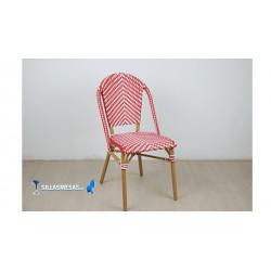 Silla hosteleria PARISINA roja y blanca