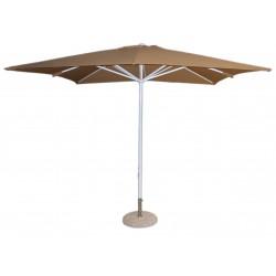 Comprar parasol aluminio 3x3 poliester beig for Recambio tela parasol 3x3