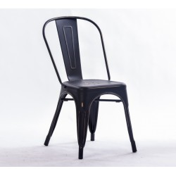 Silla TOLIX negro antique