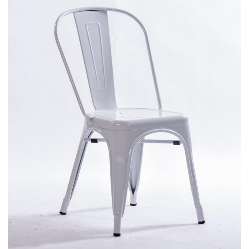 comprar silla tolix replica color blanco. Black Bedroom Furniture Sets. Home Design Ideas