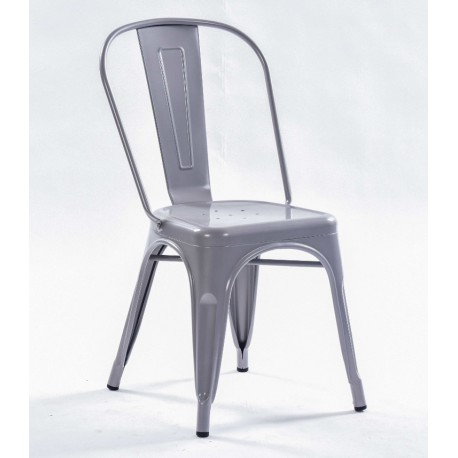 Silla TOLIX replica color gris plata
