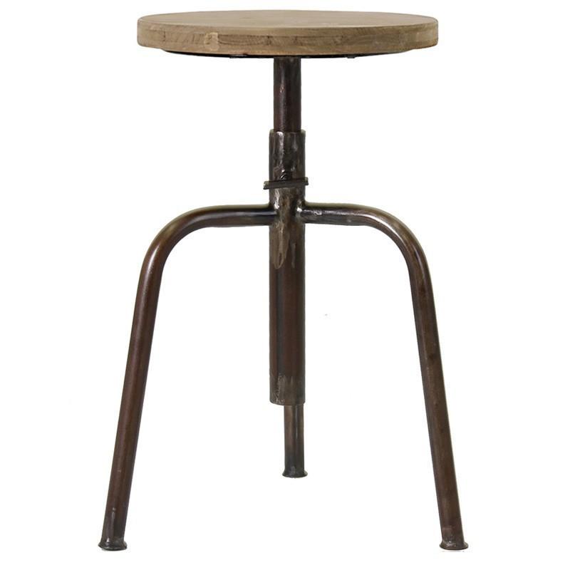 Comprar taburete oaklan altura 60 cm for Taburete estilo industrial