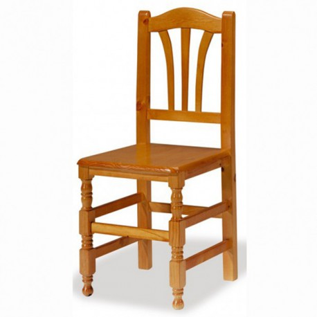 Silla BALTI asiento madera