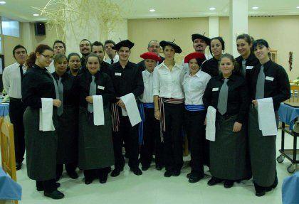 Alumnado de la Escuela de Hostelería de Cádiz