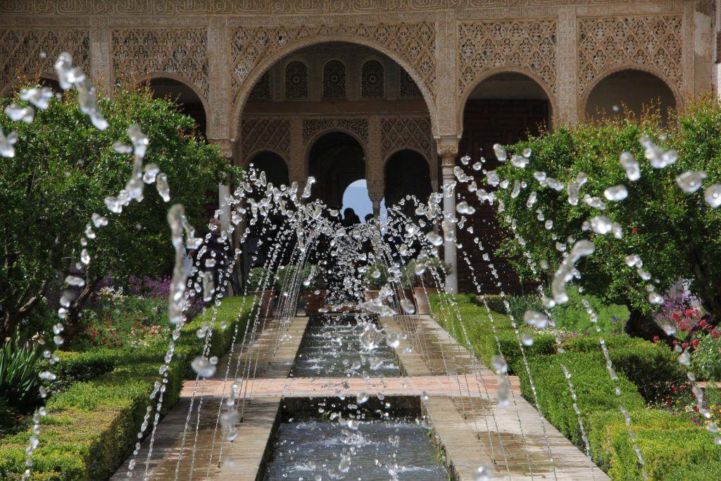 Fuente en los jardines de la Alhambra.