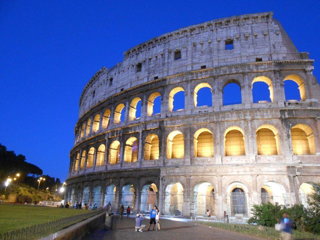 Vista del Coliseo de Roma