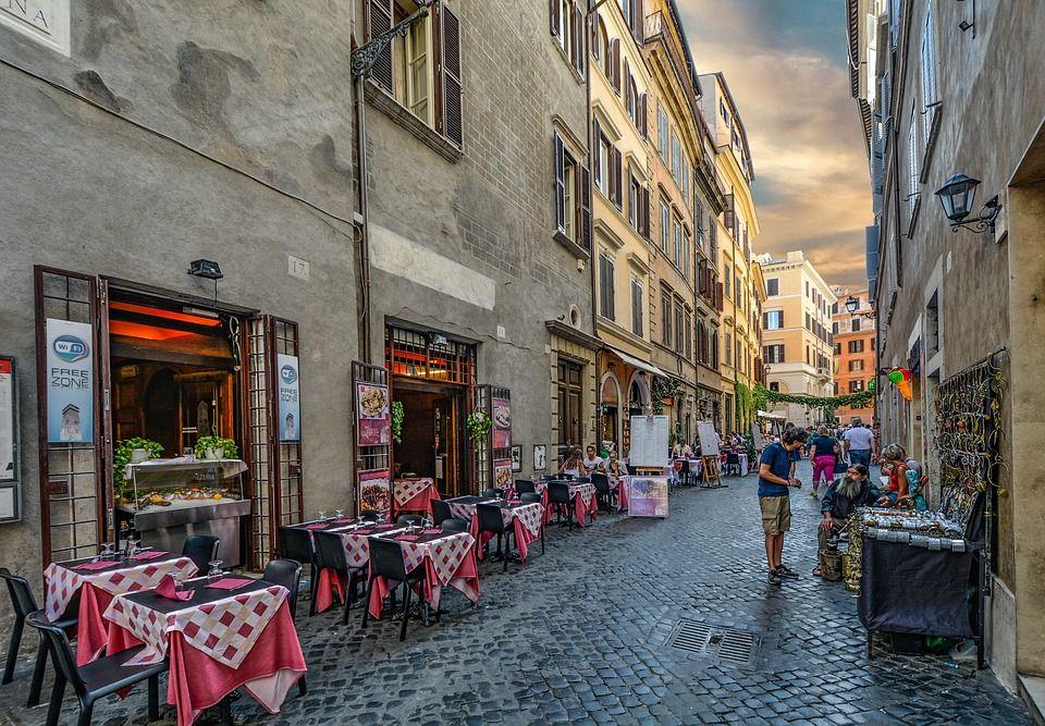Encanto de un restaurante italiano