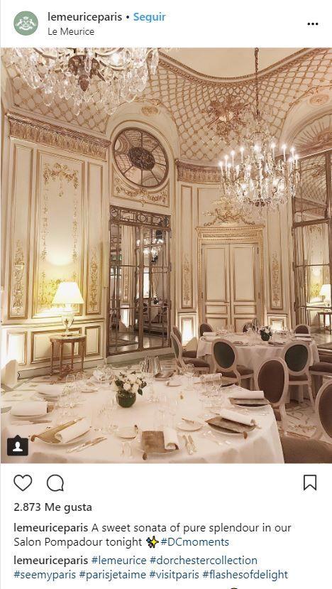 Restaurante Le Meurice en París