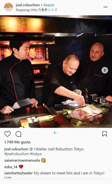 El chef Joel Robuchon en su restaurante