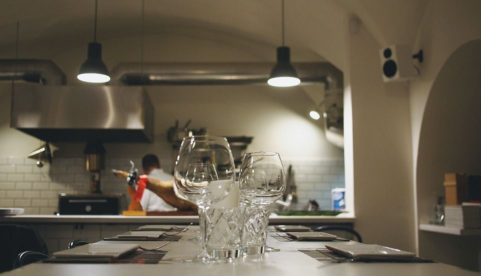 Isla de cocina profesional