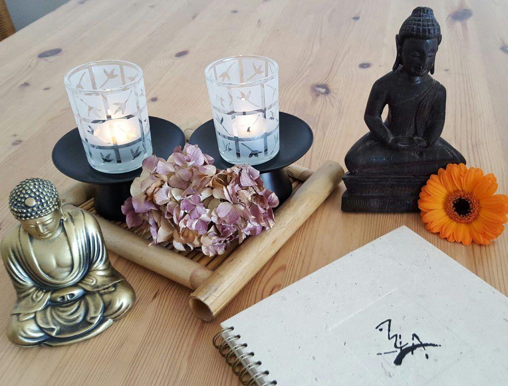 Luces tenues y suaves propias del estilo zen