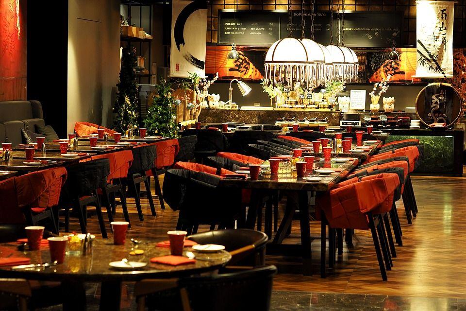 Distribución del mobiliario de un restaurante