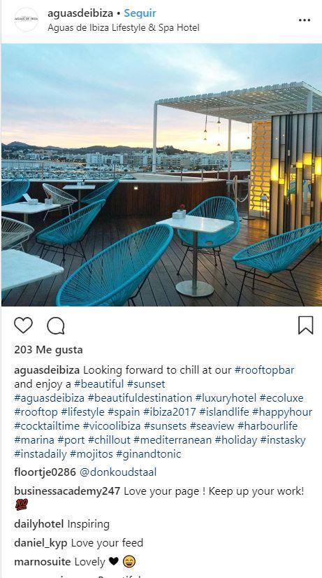Terraza de Aguas de Ibiza