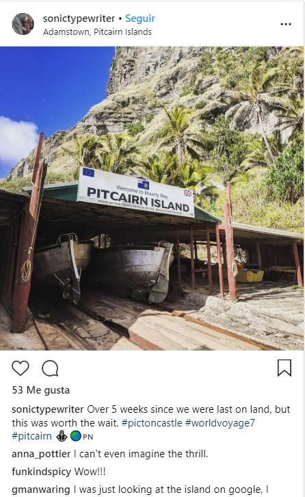 Christian's Café en Adamstown, islas Pitcairn