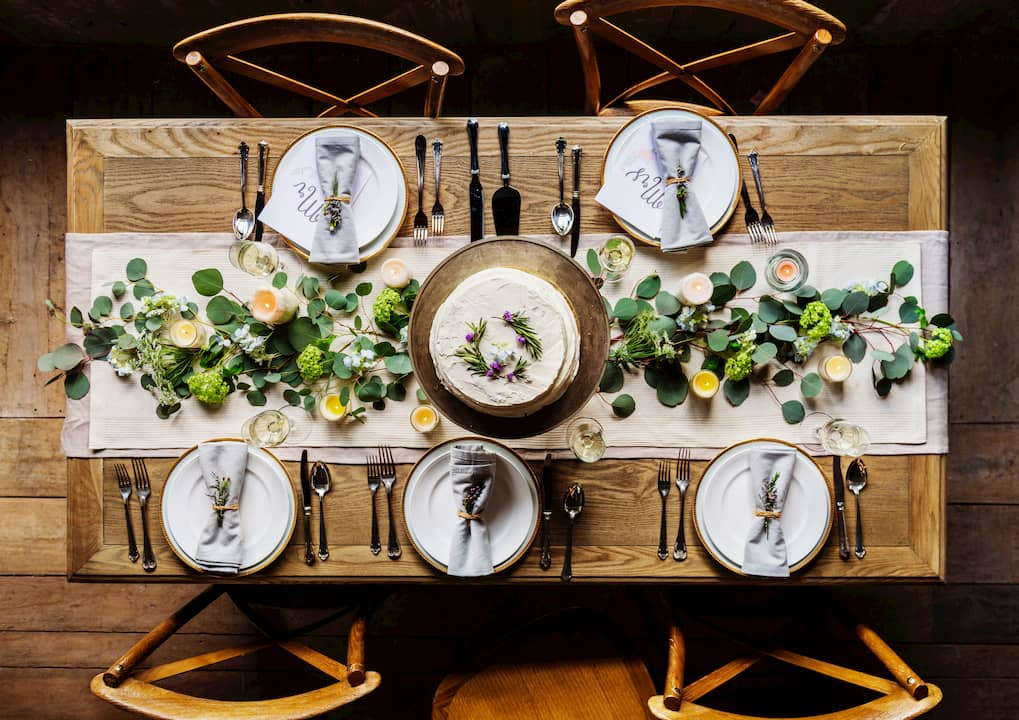 Medidas de mesa de restaurante