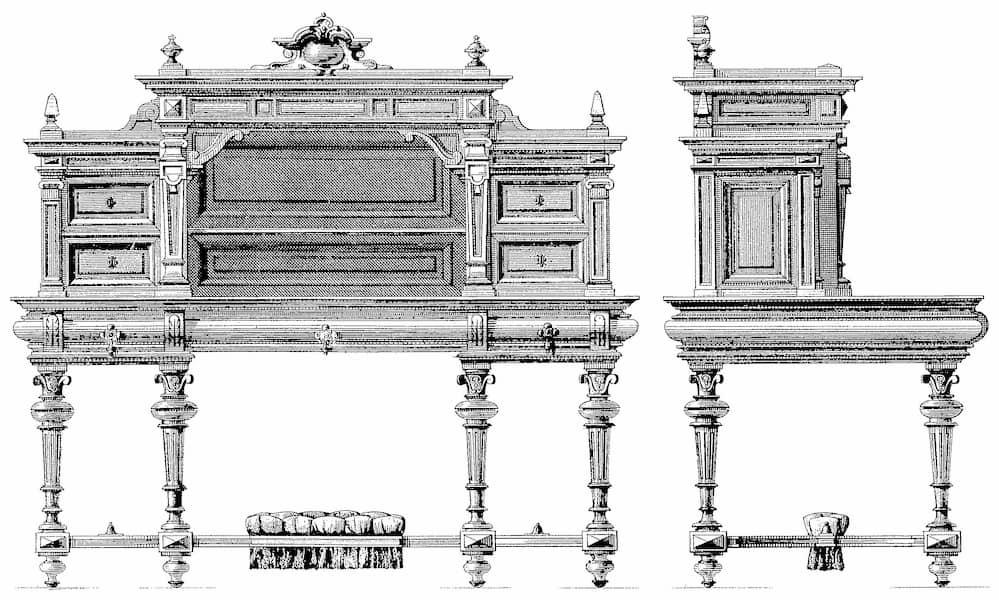 Mobiliario estilo barroco modelo Luis XIII