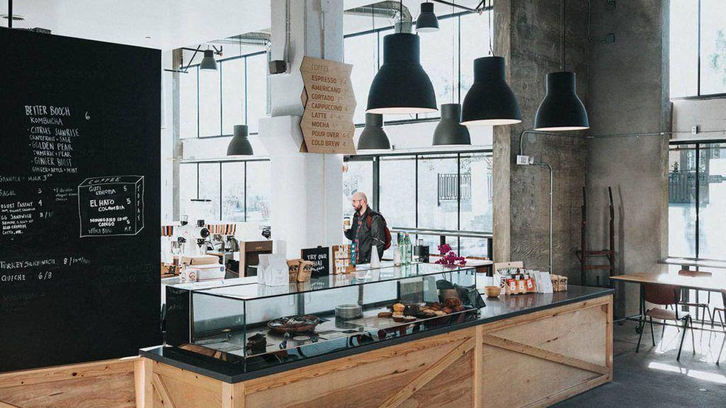 decoración restaurante minimalista