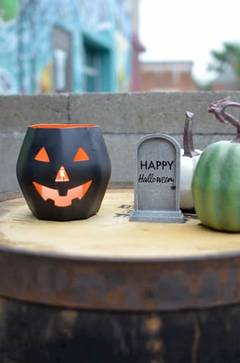 lámparas para decorar restaurante en halloween
