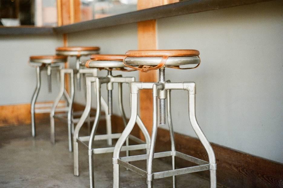 taburete estilo industrial asiento barra bar