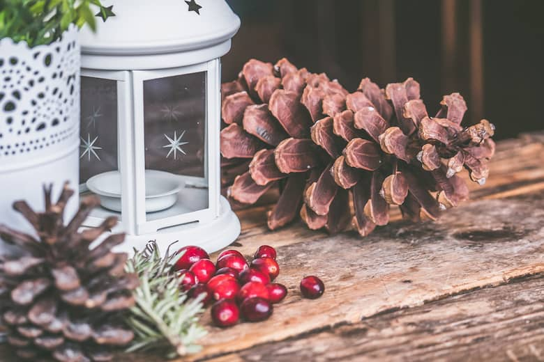 accesorios de decoración navideña para restaurantes y bares