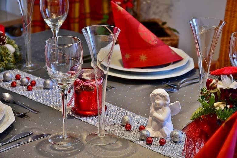 decoración de mesas en navidad en locales de hostelería