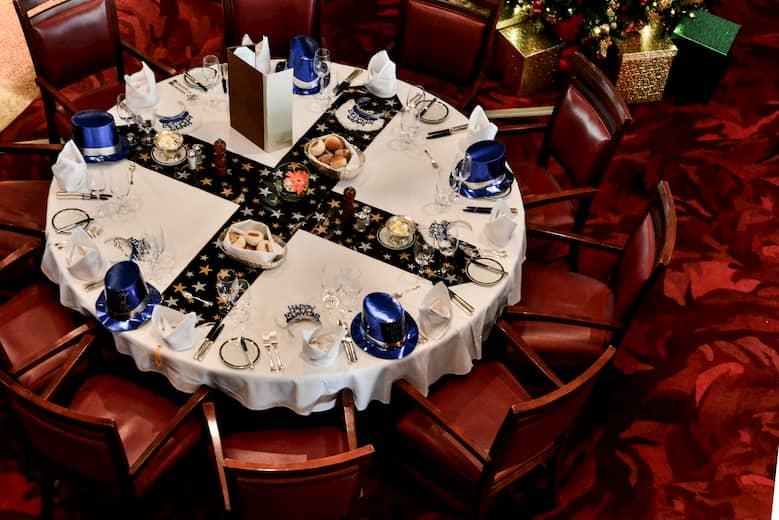 sugerencias de decoración navideña de mesas en restaurantes