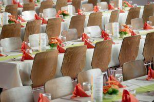 ejemplo de decoración de mesas de boda