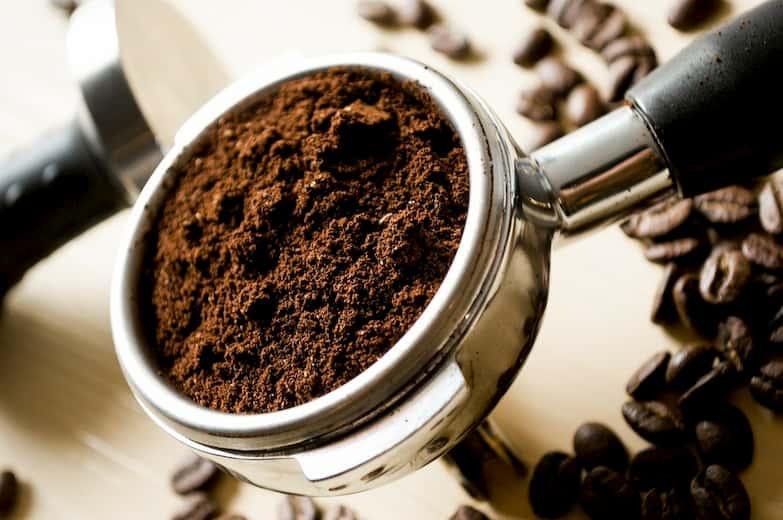 Café molido de máquina