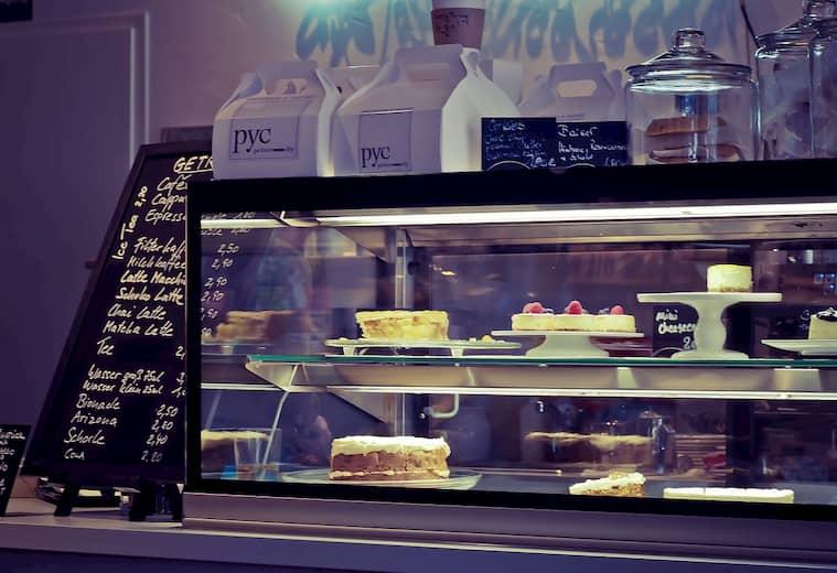 El mostrador es clave al decorar una pastelería