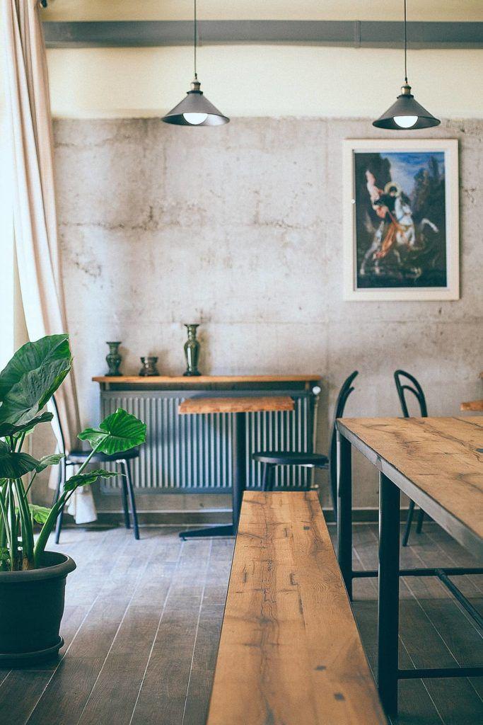 Estilo minimal en restaurante veggie